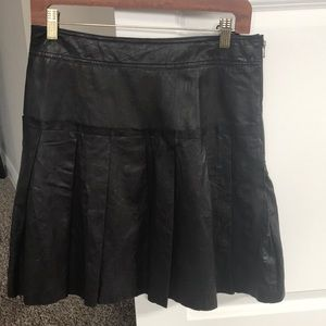Etcetera leather skirt